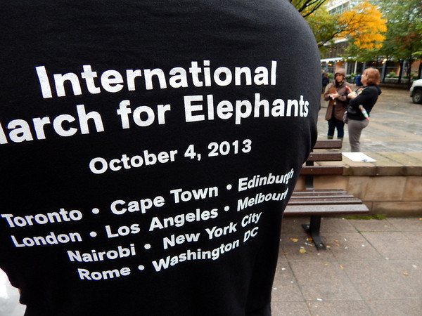 International March for Elephants Toronto