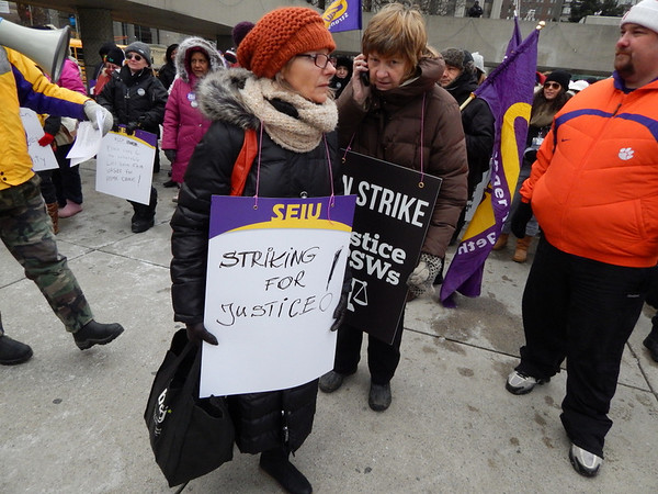 SEIU Healthcare Workers Day 1 of Ontario Strike rally and march