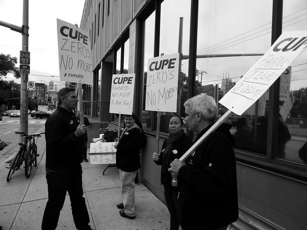 Support rally for TPWA Foundation (CUPE  Local 3697) workers