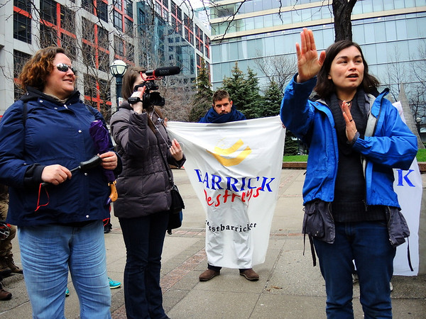 Barrick Gold AGM protest