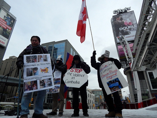 Cambodian Workers Toronto Solidarity Rally