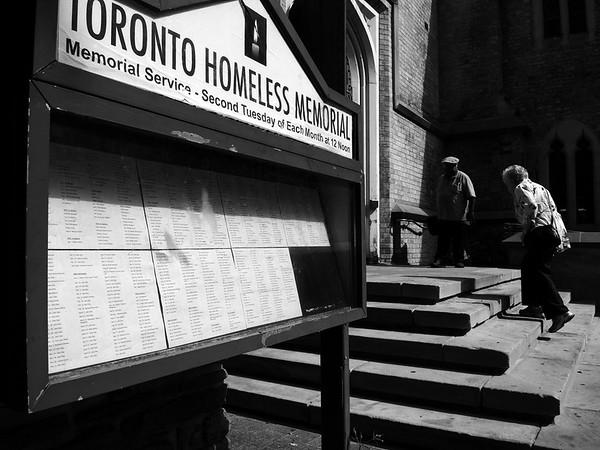 Homeless Memorial Vigil - September 2014