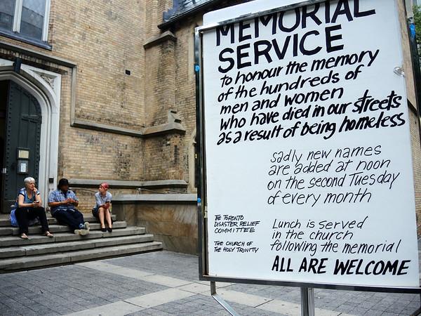 Homeless Memorial Vigil - July 2014